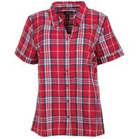 Erika Women's Short Sleeve Enchanted Plaid Button Down Shirt from Blain's Farm and Fleet