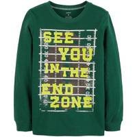 Carter's Big Boys' Green Long Sleeve See You In End Zone Tee from Blain's Farm and Fleet