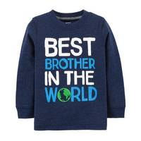 Carter's Toddler Boy's Best Brother Textured Tee from Blain's Farm and Fleet