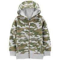 Carter's Big Boys' Front Zip Fleece Hoodie Camouflage from Blain's Farm and Fleet