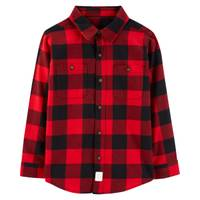 Carter's Big Boys' Plaid Flannel Buffalo Black & Red from Blain's Farm and Fleet