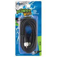 Power Comm Coax Cable 9ft Black from Blain's Farm and Fleet