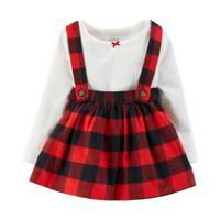 Carter's Infant Girls' Red & Black Ivory Bodysuit from Blain's Farm and Fleet