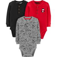 Carter's Infant Boys' Red & Gray Penguin 3-Pack Bodysuit from Blain's Farm and Fleet