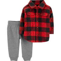 Carter's Infant Boys' Red & Gray 3-Pack Checkered Pants Set from Blain's Farm and Fleet