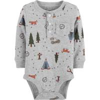 Carter's Infant Boys' Heather & Green Tree Print Bodysuit from Blain's Farm and Fleet
