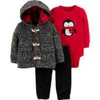 Carter's Infant Boys' Gray & Red 3-Piece Pant Set Sweater from Blain's Farm and Fleet