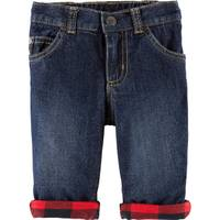 Carter's Infant Boys' Red & Denim Buff Checkered Pants from Blain's Farm and Fleet