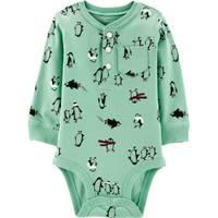 Carter's Infant Boys' Mint Penguin Bodysuit from Blain's Farm and Fleet