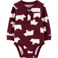 Carter's Infant Boys' Burgundy Polar Bear Bodysuit from Blain's Farm and Fleet