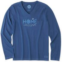 Life Is Good Misses' Long Sleeve Wherever Together Crusher V-Neck from Blain's Farm and Fleet