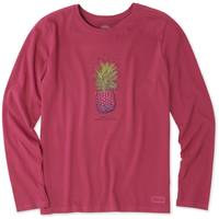 Life Is Good Misses' Long Sleeve Pineapple Love Crew Neck Crusher T-Shirt from Blain's Farm and Fleet