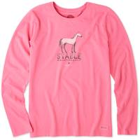 Life Is Good Misses' Long Sleeve Stable Relationship Crusher T-Shirt from Blain's Farm and Fleet