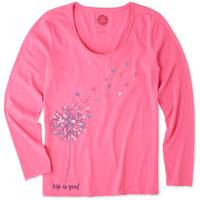 Life Is Good Misses' Long Sleeve Free Spirit Flower Smooth V-Neck from Blain's Farm and Fleet