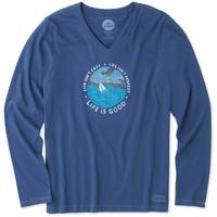 Life Is Good Misses' Long Sleeve Life Isn't Easy Crusher V-Neck from Blain's Farm and Fleet