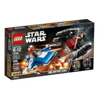 LEGO 75196 Star Wars The Last Jedi A-Wing vs TIE Silencer Microfighters from Blain's Farm and Fleet