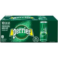 Perrier 10-Pack Sparkling Slim Can from Blain's Farm and Fleet