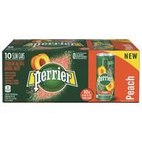 Perrier 10-Pack Sparkling Peach Slim Can from Blain's Farm and Fleet