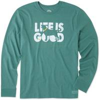 Life Is Good Men's Crusher Long Sleeve T-Shirt Knockout Dog Green from Blain's Farm and Fleet