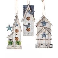Kurt S. Adler Wooden Bird House Ornament Assortment from Blain's Farm and Fleet
