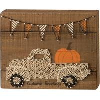Primitives By Kathy Autumn Greetings String Art block from Blain's Farm and Fleet