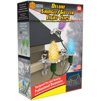 Adams 50-Piece Deluxe Shingle and Gutter Light Clips from Blain's Farm and Fleet