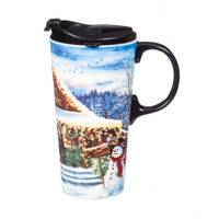 Evergreen Enterprises 17 oz Holiday Farmhouse Travel Cup from Blain's Farm and Fleet