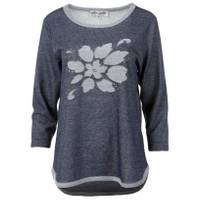 Cathy Daniels Women's Denim 3/4 Sleeve Scoop Neck Embroidered Pullover from Blain's Farm and Fleet