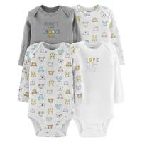 Carter's Unisex Assorted Color Long Sleeve Bodysuit 4-Pack from Blain's Farm and Fleet