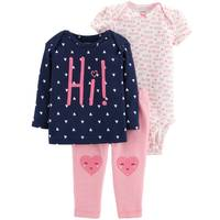 Carter's Infant Girls' Pink & Navy Heart LBB 3-Piece TMA Set from Blain's Farm and Fleet