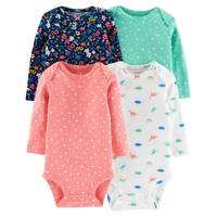 Carter's Infant Girls' Assorted Color Long Sleeve Bodysuits 4-Pack from Blain's Farm and Fleet