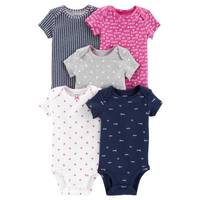 Carter's Infant Girls' Assorted Color Short Sleeve Bodysuits 5-Pack from Blain's Farm and Fleet