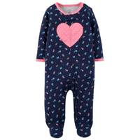 Carter's Infant Girls' Sleep & Play Heart Floral & Navy from Blain's Farm and Fleet