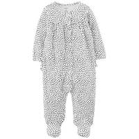 Carter's Infant Girls' Sleep & Play Heart  Ivory & Black from Blain's Farm and Fleet