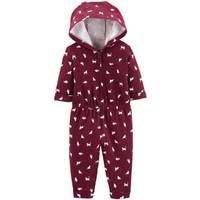Carter's Infant Girls' Hooded Floral Jumpsuit Burgundy from Blain's Farm and Fleet