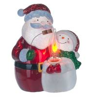 Midwest-CBK Santa Snowman Flicker Night Light from Blain's Farm and Fleet