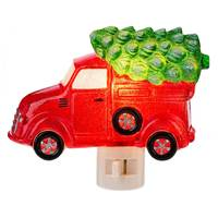 Midwest-CBK Red Truck with Tree Night Light from Blain's Farm and Fleet