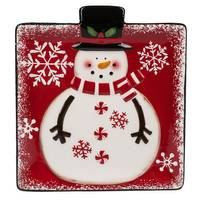 Midwest-CBK Snowman Snack Plate from Blain's Farm and Fleet