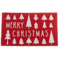 Midwest-CBK Merry Christmas Red Doormat from Blain's Farm and Fleet