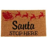 Midwest-CBK Santa Stop Here Doormat from Blain's Farm and Fleet