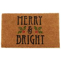 Midwest-CBK Merry & Bright Doormat from Blain's Farm and Fleet