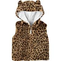 Carter's Toddler Girls' Cheetah Hooded Vest from Blain's Farm and Fleet