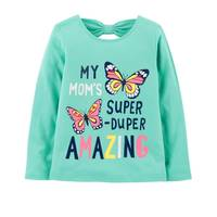 Carter's Toddler Girl's Turquoise Mom's Amazing Bow-Tie Tee from Blain's Farm and Fleet