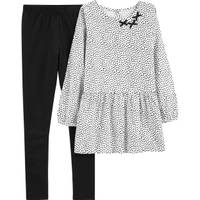 Carter's Big Girls' 2-Piece Pant Set Black & White from Blain's Farm and Fleet
