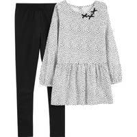Carter's Big Girls' 2-Piece Pant Set Black & White from Blain's Farm and Fleet