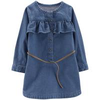 Carter's Big Girls' Chambray Belted Dress Denim from Blain's Farm and Fleet