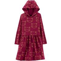 Carter's Big Girls' Hooded Cat Dress Burgundy from Blain's Farm and Fleet
