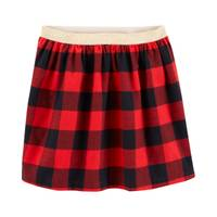 Carter's Big Girls' Plaid Buffalo Skirt Red & Black from Blain's Farm and Fleet