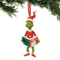 Department 56 Grinch with The Book Ornament from Blain's Farm and Fleet