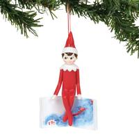 Department 56 Elf Sitting On The Book Ornament from Blain's Farm and Fleet